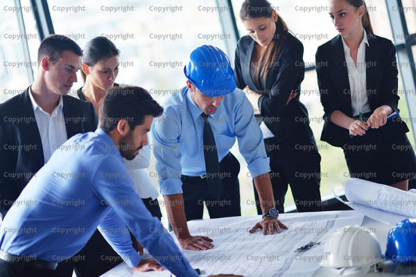 Construction progress meeting